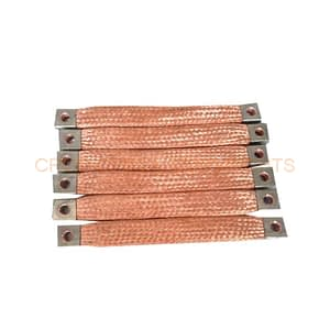 Flat copper braided busbar