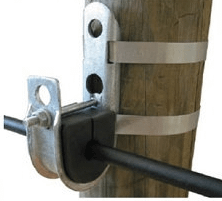 Suspension clamp with pole banding