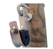 Suspension clamp with hook bolt