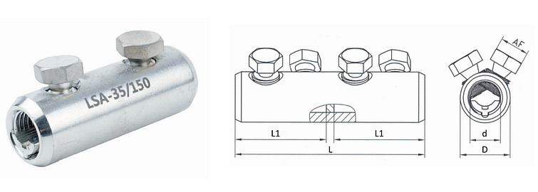 Mechanical connectors with screw