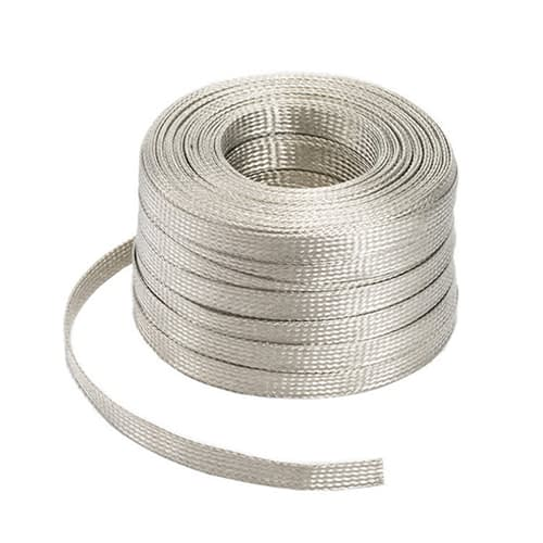Flat Copper Tinned Ground Strap